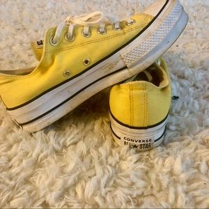 Converse Yellow All Star Lift Low Tops